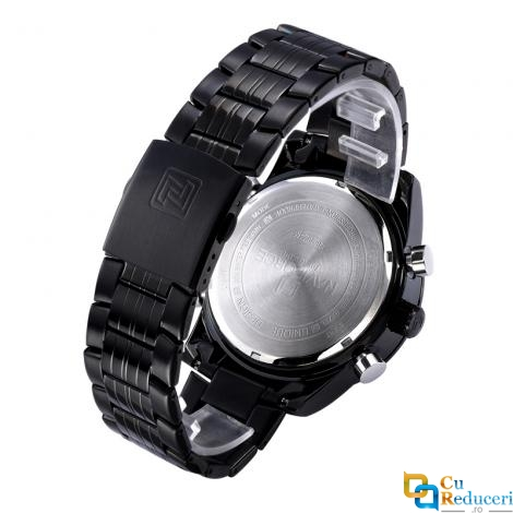 Ceas Naviforce clasic multifunctional, mecanism Quartz, rezistent la apa 5Bar, afisaj digital si analogic, alarma si cronometru + cutie cadou