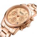Set ceas barbatesc + ceas dama Megir, rezistent la apa 3Bar, mecanism Quartz, afisaj analogic, stil Fashion + cutie cadou