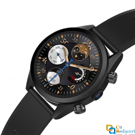 Ceas smartwatch Kingwear KC08, procesor Quad Core 1.25GHz, memorie 1G Ram + 16G ROM, display 1.39inch AMOLED cu touch screen, rezolutie 400 * 400 pixeli