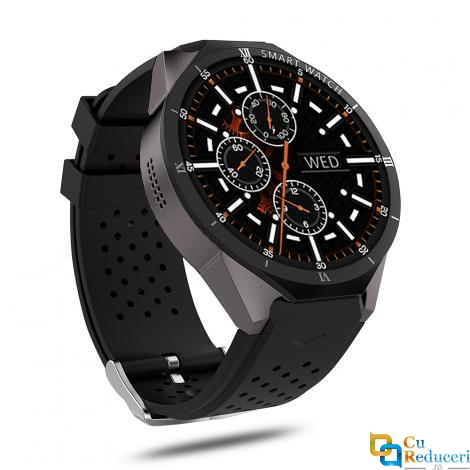 Ceas smartwatch Kingwear KW88 Pro, procesor Quad Core 1.3GHz, 1G Ram + 16G ROM, 3G, display 1.39inch UHD AMOLED cu touch screen, rezolutie 400 * 400 pixeli