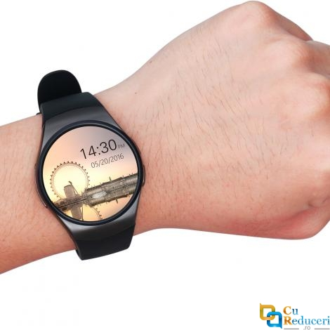 Ceas smartwatch Kingwear KW18, 64MB Ram + 128MB ROM, display 1.3inch IPS LCD cu touch screen, rezolutie 240 * 240 pixeli