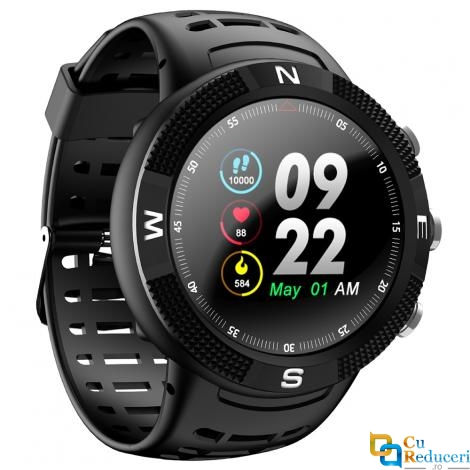 Ceas smartwatch DT NO.1 F18, 128MB Ram + 128MB ROM, display 1.3inch TFT cu touch screen, rezolutie 240 * 240 pixeli, baterie 350mAh