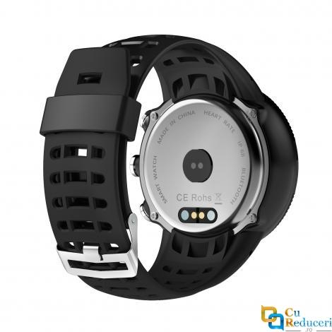 Ceas smartwatch Kingwear F18, 128MB Ram + 128MB ROM, display 1.3inch TFT cu touch screen, rezolutie 240 * 240 pixeli, baterie 350mAh