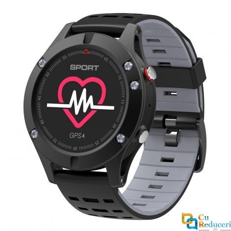 Ceas smartwatch DT NO.1 F5, 64KB RAM + 512KB ROM, display 0.95 inch cu touch screen, baterie 350mAh, GPS, altimetru/barometru/termometru