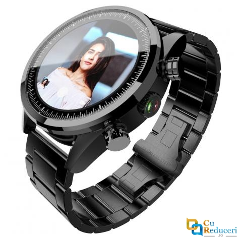Smartwatch Lokmat LK08, camera 5MP HD, display 1.39inch AMOLED cu touch screen, rezolutie 400 * 400 pixeli, GPS, procesor Quad Core 1.25GHz, 3G Ram + 32G ROM, 4G, baterie 620mAh