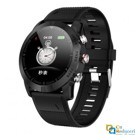 Ceas smartwatch DT NO.1 S10, 64KB RAM + 512KB ROM, display 1.3 inch TFT cu touch screen, rezolutie 240 x 240 pixeli, baterie 350mAh, rezistent la apa IP67