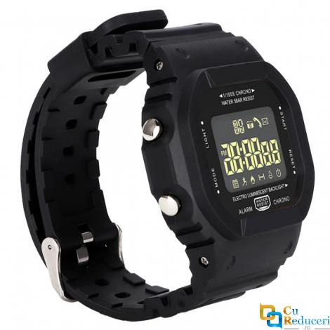 Ceas Smartwatch LOKMAT EX16T, display 1.21 inch, rezistent la apa IP68(5 ATM), capacitate baterie 220mAh, pendometru, masoara pasii parcursi, distanta si arderea caloriilor