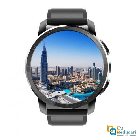 Ceas smartwatch Kingwear KC09, camera 5MP, display 1.39inch AMOLED cu touch screen, rezolutie 454 * 454 pixeli, GPS, procesor Quad Core 1.25GHz, 2G Ram + 16G ROM, baterie 800mAh, 4G