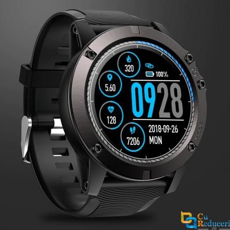 Ceas smartwatch Zeblaze VIBE 3 PRO, display 1.3 inch IPS cu touch screen, rezolutie 240 x 240 pixeli, baterie 180mAh, monitorizarea ritmului cardiac, senzor de proximitate, accelerometru
