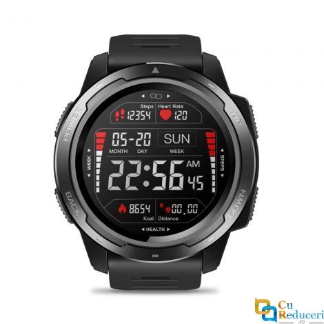Ceas smartwatch Zeblaze VIBE 5, display 1.3 inch IPS, rezolutie 240 x 240 pixeli, baterie 180mAh, monitorizarea ritmului cardiac, monitorizeaza calitatea somnului, pedometru