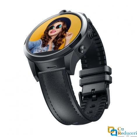 Ceas smartwatch Zeblaze Thor 5 Pro, 2 x camera 5MP, display 1.6 inch LTPS Crystal cu touch screen, rezolutie 320 * 320 pixeli, GPS, procesor Quad Core 1.25GHz, 3G Ram + 32G ROM, 4G, baterie 800mAh