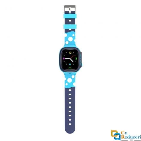 Ceas smartwatch Kingwear Y92 albastru, display 1.44inch TFT cu touch screen, rezolutie 240 x 240 pixeli, baterie 680mAh, camera: 500,000 pixels