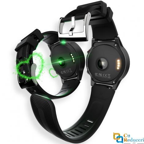 Smartwatch Lokmat TK04, display 1.3 inch IPS cu touch screen, rezolutie 240 x 240 pixeli, GPS, Ram 128 MB + 64 MB, baterie 320 mAh, monitorizare ritmului cardiac, calitatea somnului, tensinii arteriale, presiunea aerului