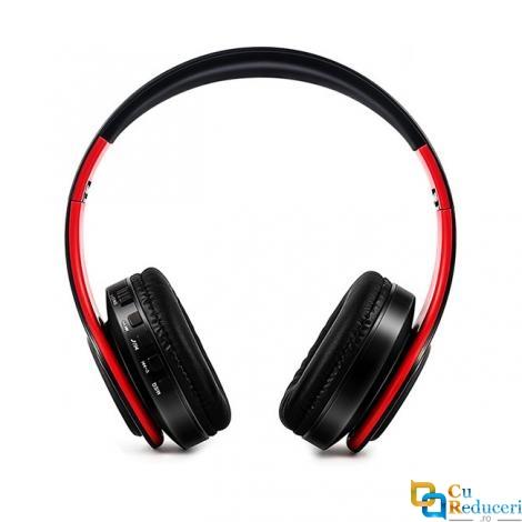 Casti audio On-ear BT66, Bluetooth 5.0, FM, suport pentru card SD cu microfon si pentru mobil