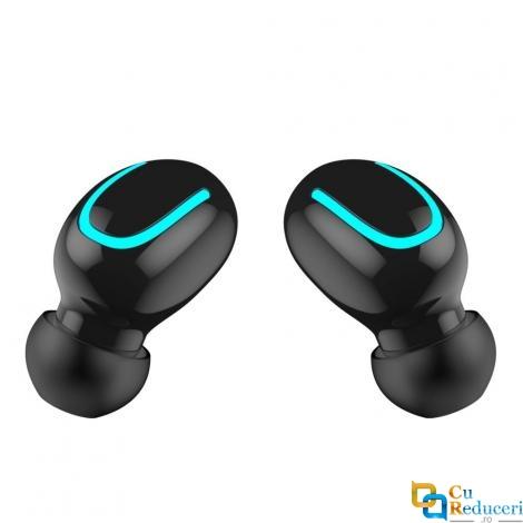 Casti Wireless Q32 5.0 TWS, Bluetooth 5.0, baterie casca 50mA, baterie incarcare casca 1500mAh, microfon, compatibi pentru toate tipurile de telefoane