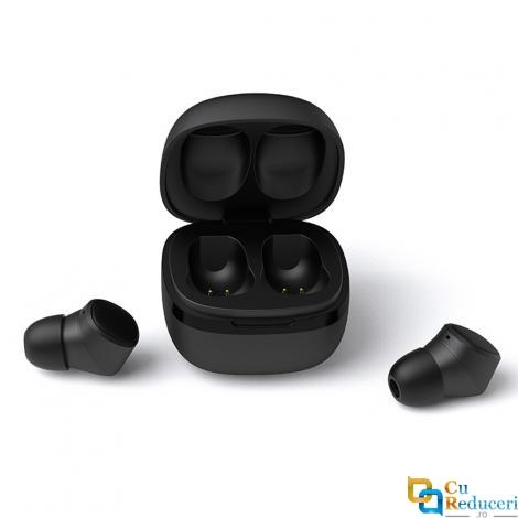 Casti Wireless T1X 5.0 TWS, Bluetooth 5.0, baterie casca 55mA, baterie incarcare casca 600mAh, microfon, compatibi pentru toate tipurile de telefoane, tabllete, caculatoare