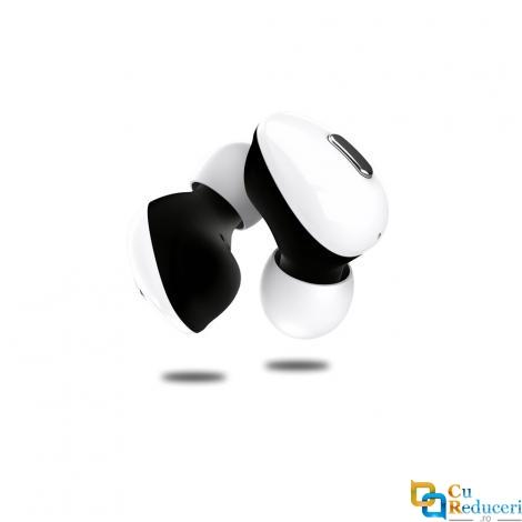Casti Wireless BTS2 5.0 TWS albe, Bluetooth 5.0, baterie casca 50mA, baterie incarcare casca 400mAh, microfon, compatibi pentru toate tipurile de telefoane, tabllete, caculatoare
