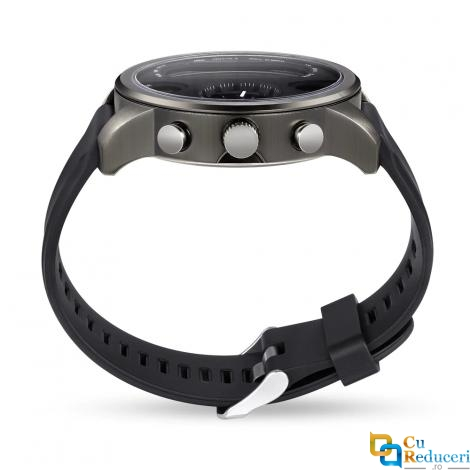 Ceas smartwatch LEMFO T3 Pro, display 0.96 inch IPS, fus orar dublu, Bluetooth 4.0, pedometru, monitarizare ritm cardica, monitorizare calitatea somnului