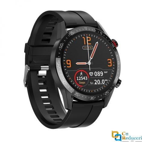 Ceas smartwatch Kingwear L13, display 1.3 inch IPS cu touch screen, rezolutie 240 x 240 pixeli, capacitate baterie 290 mAh
