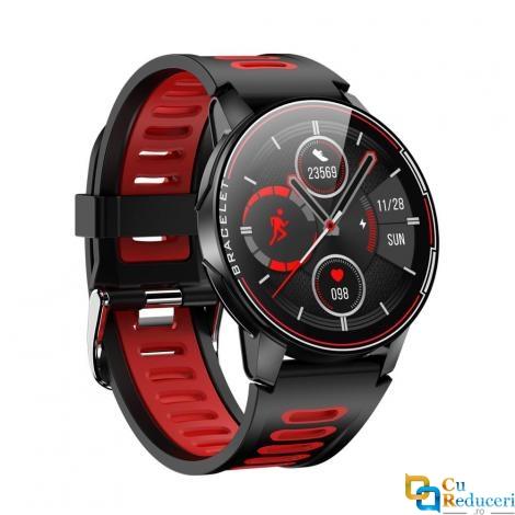 Ceas smartwatch Kingwear S20, display 1.28 inch TFT cu touch screen, rezolutie 240 x 240 pixeli, baterie 360mAh, rezistent la apa IP68