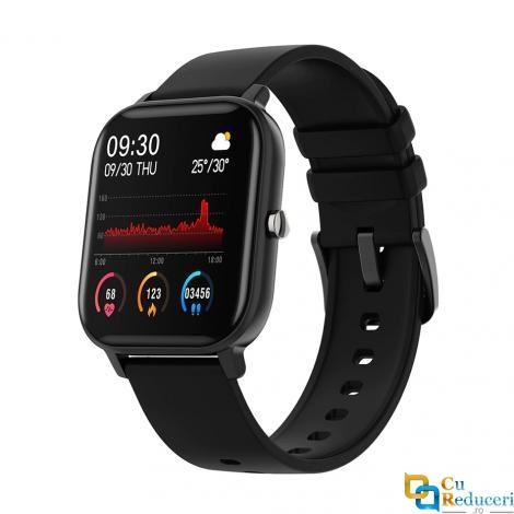 Ceas smartwatch Kingwear P8, display 1.4 inch TFT cu touch screen, rezolutie 240 x 240 pixeli, baterie 170mAh, functii de monitorizare a sanatatii