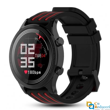 Ceas smartwatch Kingwear E5, display 1.28 inch cu touch screen, rezolutie 240 x 240 pixeli, baterie 200mAh, rezistent la apa IP68, functii de monitorizare a sanatatii