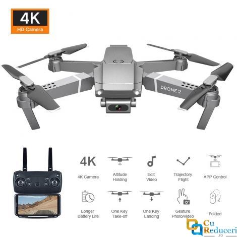 Drona Visuo E68 4K, brate pliabile, wifi, buton de Return To Home, camera 1080p cu transmisie live pe telefon