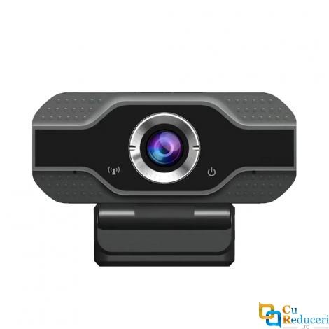 Camera Web USB 2.0 B2, neagra, FullHD 2MP, microfon, conectare PC/Laptop, rezolutie 1920 x 1080 @30fps, corectie automata de culoare
