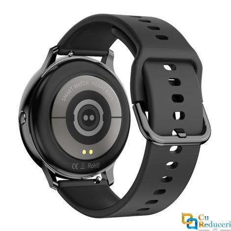 Ceas Smartwatch Kingwear DT88 pro negru, silicon, rezistent la apa IP67, 64KB Ram + 512KB ROM, display 1.3 inch HD cu touch screen, rezolutie 240 * 240 pixeli, capacitate baterie 180 mAh