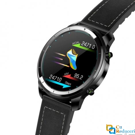 Ceas smartwatch Zeblaze H15, display 1.3 inch TFT cu touch screen, rezolutie 360 x 360 pixeli, baterie 200mAh, rezistent la apa IP68, functii de monitorizare a sanatatii