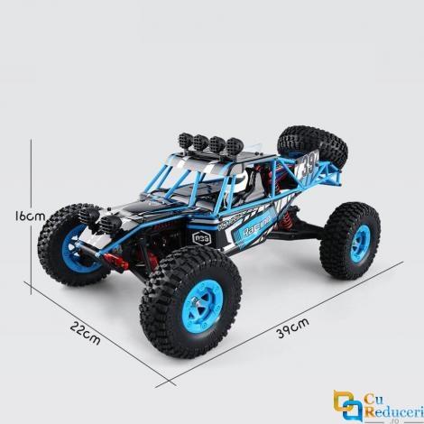 Masina cu telecomanda Eagle-3 Q39 albastra, 4WD, 1:12, viteza maxima 40 km/h, 2 x acumulatore 7.4V 1500 mAh Li-Ion