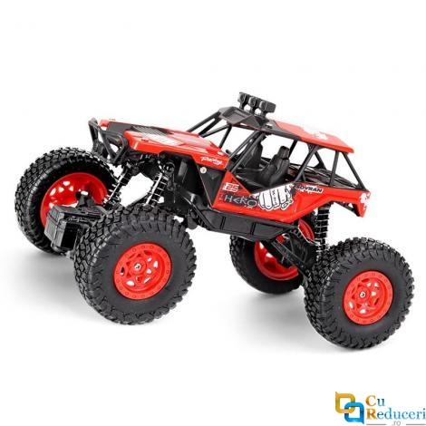 Masina cu telecomanda Q66 rosu, 2WD, 1:20, viteza maxima 10 km/h, 2 x acumulatore 3.6 V 350 mAh Li-Ion
