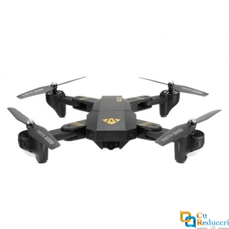 Drona Visuo XS809HW, brate pliabile, wifi, buton de Return To Home, camera 720 p cu transmisie live pe telefon, 2 x acumulatoare 3.7V 900 mAh