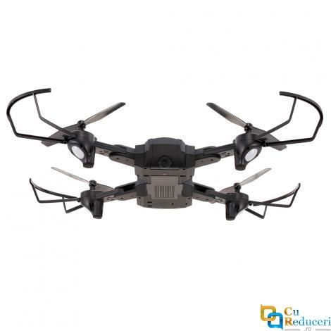 Drona Visuo SG900 F196, brate pliabile, wifi, buton de Return To Home, camera 720p cu transmisie live pe telefon, capacitate baterie: 3.7V 2200 mAh, autonomie zbor ~ 22 de minute