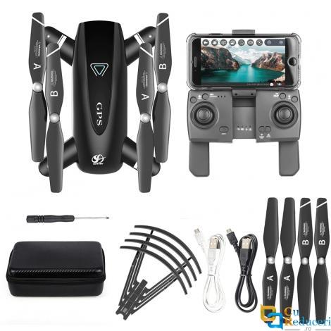 Drona CSJ S167 GPS 4K 5G, brate pliabile, wifi, buton de Return To Home, camera 1080P HD cu transmisie live pe telefon, capacitate baterie: 7.4V 1300 mAh, autonomie zbor ~ 20 de minute