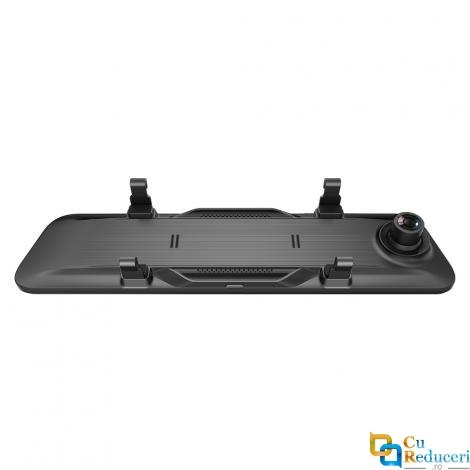 Camera auto oglinda retrovizoare, neagra, 12 inch IPS HD, inregistrare dubla spate/fata unghi 170 grade, 30fps, full HD 1080P