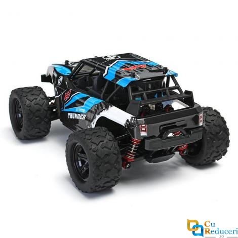 Masina cu telecomanda JJRC HS18311 albastra, 4x4, scara 1:18, viteza maxima 36 km/h, acumulator 7.4V 1200mAh, timp de utilizare ~20 min