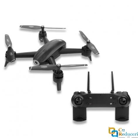 Drona CSJ S165 4K, 2 camere, wifi, buton de Return To Home, camera 4K HD cu transmisie live pe telefon, capacitate baterie: 3.7V 2000 mAh, autonomie zbor ~ 20 de minute
