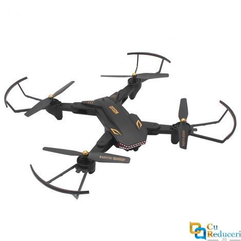 Drona Visuo XS809S, brate pliabile, camera HD unghi larg 2MP WiFi FPV, buton de Return To Home, camera cu transmisie live pe telefon, acumulator 3.7V 1800 mAh, autonomie zobor ~ 20min
