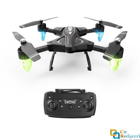 Drona Visuo F69 4K, brate pliabile, wifi, buton de Return To Home, camera 4K cu transmisie live pe telefon, capacitate batie 3.7V 1800 mAh, autonomie zbor ~18 minute