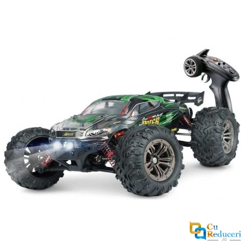 Masina cu telecomanda JJRC 9138 verde, 4WD, 1:16, 2.4G, viteza maxima ~36km/h, acumulator 7.4V 500 mAh Li-Ion, autonomie ~15min