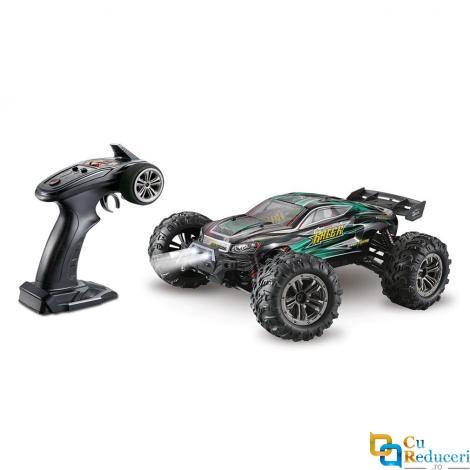 Masina cu telecomanda JJRC 9138 verde, 4WD, 1:16, 2.4G, viteza maxima ~36km/h, acumulator 7.4V 1000 mAh Li-Ion, autonomie ~15min
