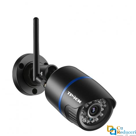 Camera de supraveghere IP wireless RoHS, 3MP 1080p, de exterior, microfon incorporat, infrarosu inteligent la 20m, unghi de vizualizare de 90˚, rezistenta la apa + card MicoSD de 32 Gb