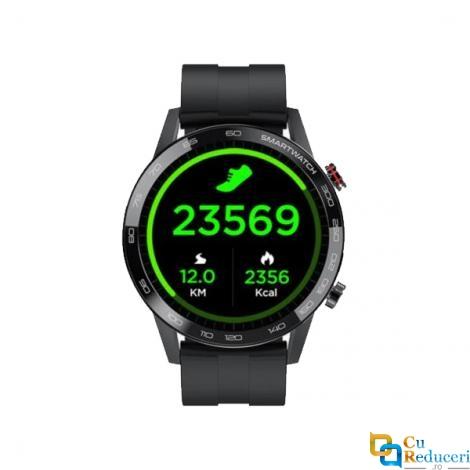 Ceas smartwatch Kingwear L16, display 1.3 inch TFT cu touch screen, rezolutie 360 x 360 pixeli, capacitate baterie 290 mAh