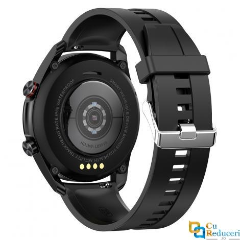 Ceas smartwatch Kingwear L19, display 1.28 inch TFT cu touch screen, rezolutie 240 x 240 pixeli, capacitate baterie 290 mAh