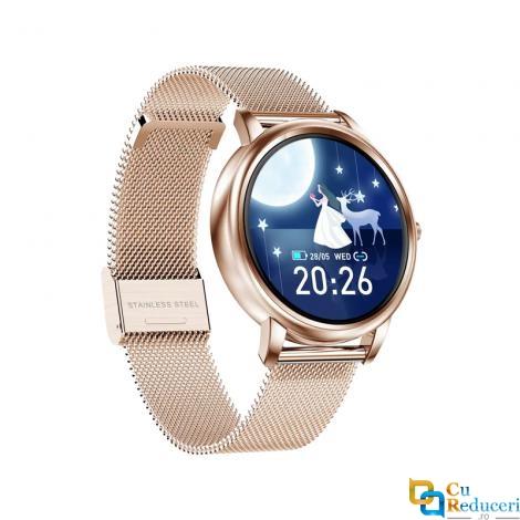 Ceas Smartwatch Kingwear MK20, senzor de ritm cardiac, rezistent la apa IP67, 128Kb RAM + 64Mb ROM, display 1.09 inch TFT cu touch screen, rezolutie 240 x 240 pixeli, capacitate baterie 140mAh