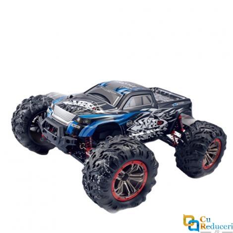 Masina cu telecomanda JJRC N516 albastra, 4WD, 1:10, 2.4G, viteza maxima ~46km/h, acumulator 7.4V 1600 mAh Li-Ion, autonomie ~10-15min