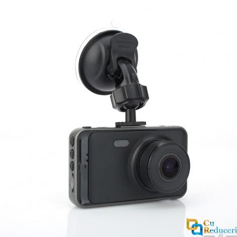 Camera de bord (dubla) DVR 1080P Full HD 3 inch IPS, senzor G, vedere nocturna, unghi de filmare 170 °, puteti inregistra fata si spate in acelasi timp, rezolutie camera 1920x1080