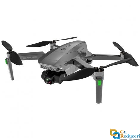 Drona SLX SG907 MAX 4K 5G GPS, buton de Return To Home, stabilizator pe 3 axe, camera 4K HD cu transmisie live pe telefon, capacitate baterie: 7.6V 2600 mAh, autonomie zbor ~ 25 de minute