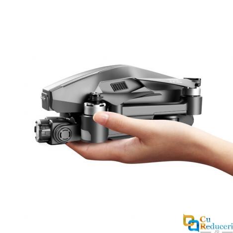Drona SLX M1 PRO 6K 5G GPS, buton de Return To Home, stabilizator pe 2 axe, camera 6K HD cu transmisie live pe telefon, capacitate baterie: 11.1V 4000 mAh, autonomie zbor ~ 30 de minute